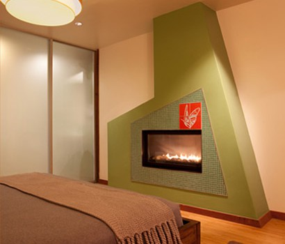 Our stylish in-room fireplaces will keep you warm the whole night through.
