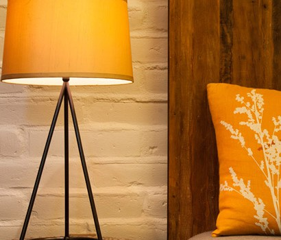 Our decor is a fusion of rustic eco modernism.