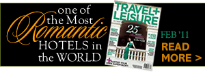Travel and Leisure rated us one of the most romantic hotels in the world!