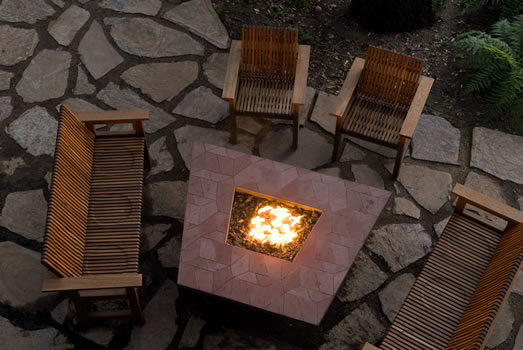 Socialize around the fire pit.
