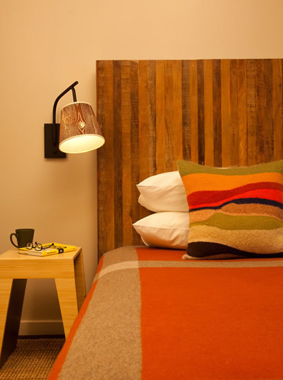 Relax on our comfortable, retro, echo-chic beds.