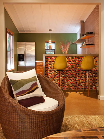 A lovely seat in one of our cabins.